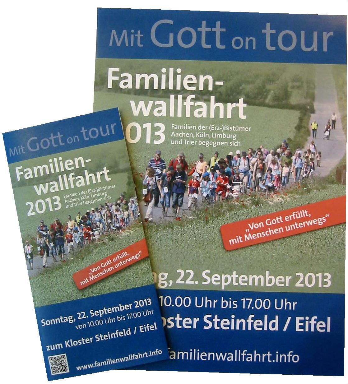 Mit Gott on tour – Familienwallfahrt am 22. September