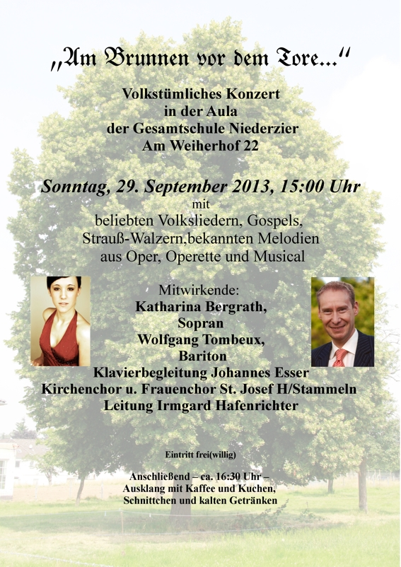 Konzert mit dem Kirchen- und Frauenchor St. Josef