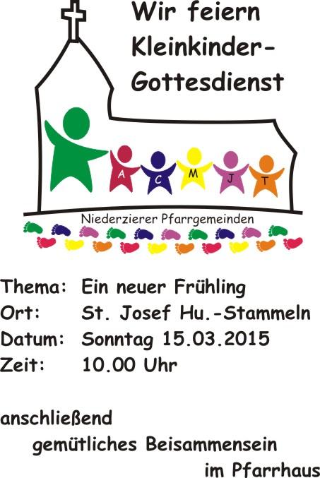Einladung zum Kleinkindergottesdienst