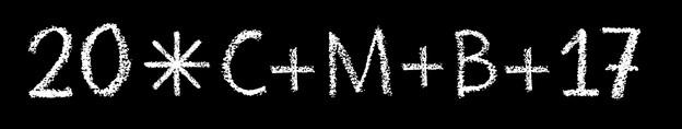 Sternsingersegen 2017 weiss auf schwarzem Hintergrund