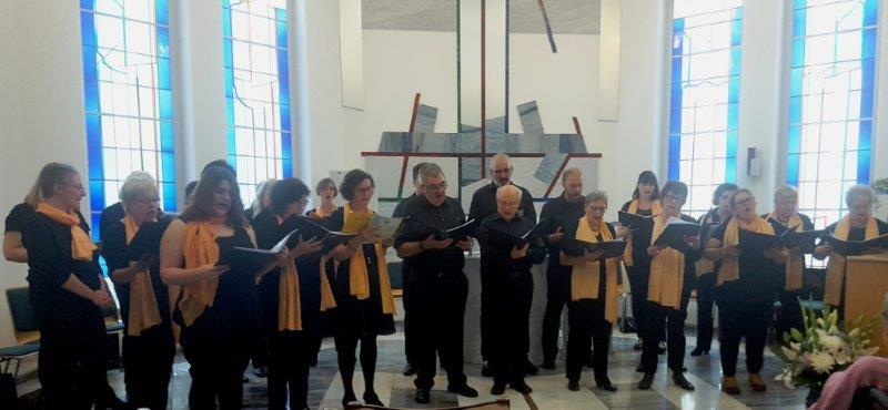 """Herbst-Konzert des Chores """"Spirits of Ham-O-Nie""""  im Sophienhof Niederzier"""