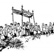 Feier des Fronleichnamsfestes in Huchem-Stammeln